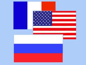 Президенты России, Франции и США