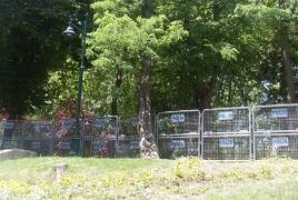 Ступени парка Гези были выложены из армянских надгробий