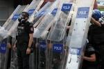 Полиция применила силу для разгона демонстрантов