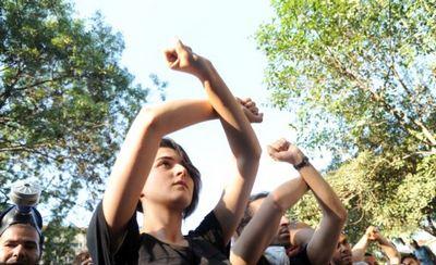 Протестующие у входа в парк Гези