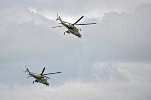Вертолеты Ми-24 и Ми-28