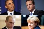 Меркель, Кэмерон, Обама и Путин