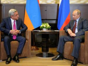 Президенты Армении и России