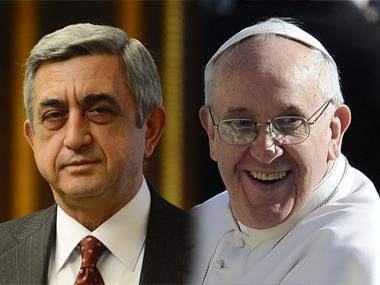 Серж Саргсян и Папа Франциск
