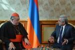 Серж Саргсян и кардинал
