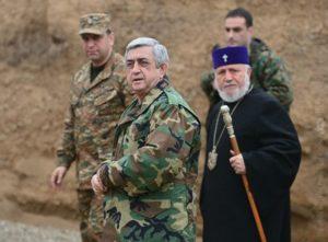 Президент Армении на передовой
