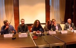 Серж Танкян, Арсине Ханджян, Атом Егоян и Эрик Назарян