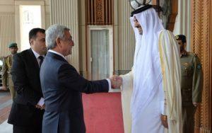 президент Армении и эмир Катара