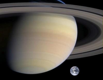 Сатурн и Земля