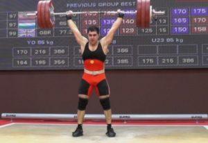 Тяжелоатлет Давид Оганесян стал вице-чемпионом Европы