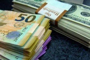 манат и доллар