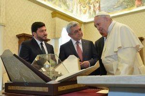 Серж Саргсян и Папа Римский