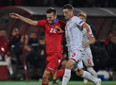 Сборная Армении разгромила македонцев в отборочном матче Лиги наций УЕФА