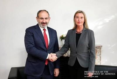 Пашинян и Могерини