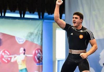 Армянский тяжелоатлет Самвел Гаспарян завоевал серебряную медаль на ЧЕ