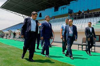Президент ФФА Артур Ванецян ознакомился с ходом подготовки к Евро-2019