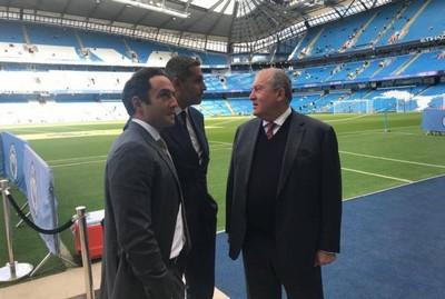 Президент Армении встретился с президентом клуба «Манчестер Сити»