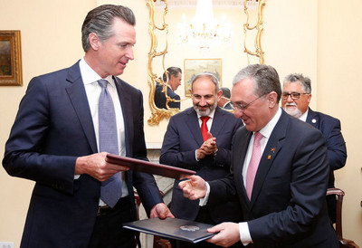 Армения и Калифорния подписали соглашение о сотрудничестве